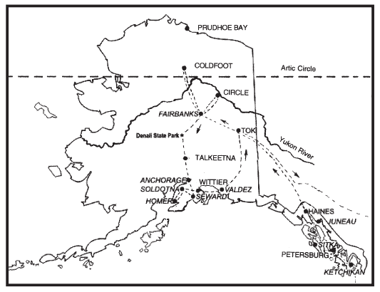 Alaska Travel Route