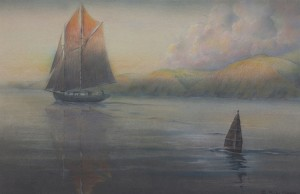 """""""There's a Schooner in the Offing, with her topsail shot with fire . . ."""""""