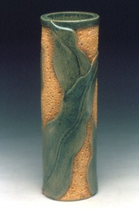 Carved Leaf Vase