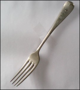 British Army issue fork stamped WGK