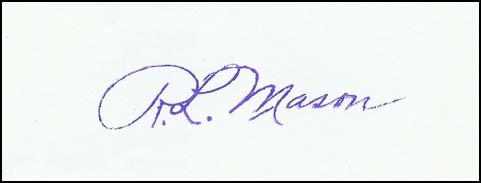 This signature from a rubber stamp is quite close to my own. We shared the same initials.