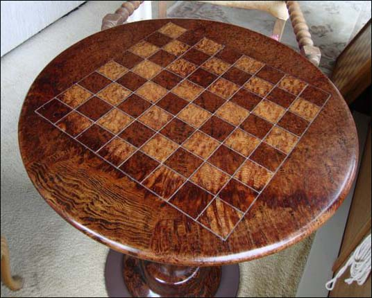 Chess Table from Redwood Burl