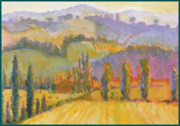 """Italy: Hot Sun                          acrylic 18"""" x 24"""""""